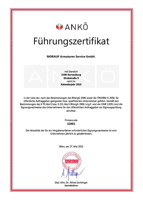 Zertifikat 18